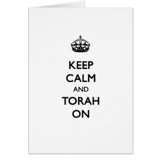 Behalten Sie Ruhe u. Torah an Karte
