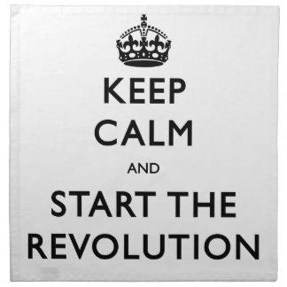 Behalten Sie Ruhe und beginnen Sie die Revolution Serviette