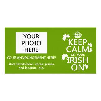 Behalten Sie Ruhe und erhalten Sie Ihre Iren auf Karte