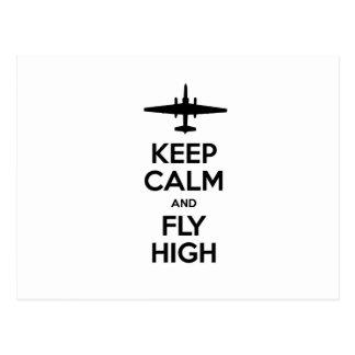 Behalten Sie Ruhe und fliegen Sie hohes U-2 Postkarte