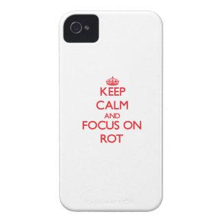 Behalten Sie Ruhe und Fokus auf Fäule iPhone 4 Hülle