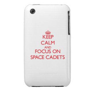 Behalten Sie Ruhe und Fokus auf Raum-Kadetten iPhone 3 Covers