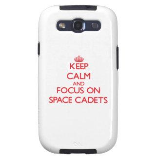 Behalten Sie Ruhe und Fokus auf Raum-Kadetten Galaxy SIII Etuis