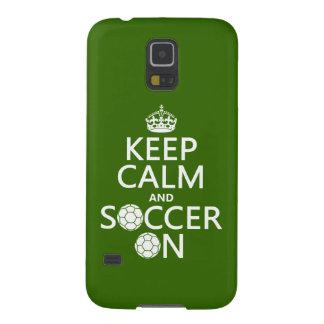 Behalten Sie Ruhe und Fußball an Samsung S5 Cover