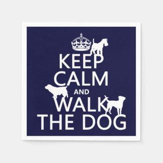 Behalten Sie Ruhe und gehen Sie der Hund - alle Servietten