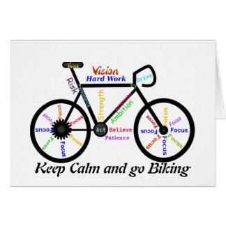 Behalten Sie Ruhe und gehen Sie, mit motivierend Karte
