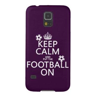 Behalten Sie Ruhe und (gesetztes) Fußball auf Samsung Galaxy S5 Cover