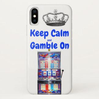 Behalten Sie Ruhe und Glücksspiel auf Las Vegas iPhone X Hülle