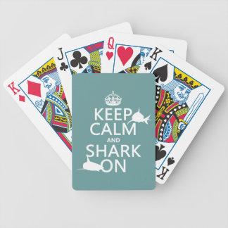 Behalten Sie Ruhe und Haifisch auf (kundengerechte Bicycle Spielkarten