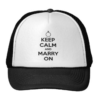 Behalten Sie Ruhe und heiraten Sie an - Hochzeit u Netzkappe