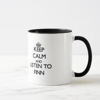 Behalten Sie Ruhe und hören Sie auf Finn Tasse