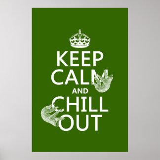 Behalten Sie Ruhe und kühlen Sie heraus (Sloth) Poster
