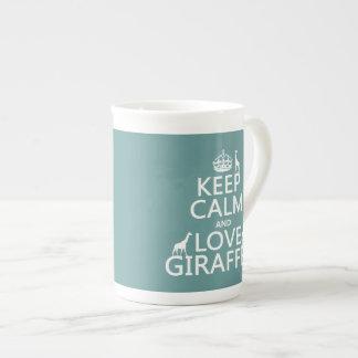 Behalten Sie Ruhe-und Liebe-Giraffen (irgendeine Prozellantasse