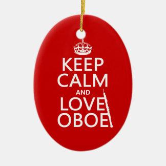 Behalten Sie Ruhe und Liebe Oboe (irgendeine Keramik Ornament