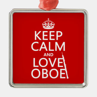 Behalten Sie Ruhe und Liebe Oboe (irgendeine Silbernes Ornament