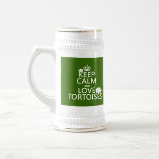 Behalten Sie Ruhe-und Liebe-Schildkröten Bierglas