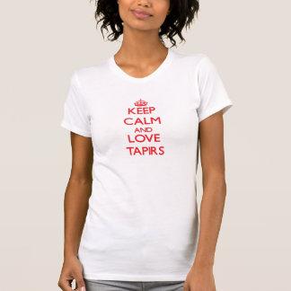Behalten Sie Ruhe und Liebe Tapirs T-Shirt