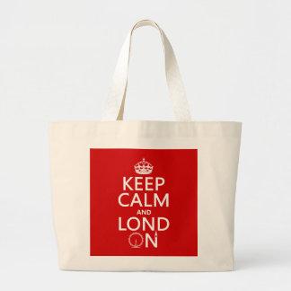 Behalten Sie Ruhe und Lond auf (London) Jumbo Stoffbeutel