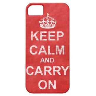 Behalten Sie Ruhe und machen Sie Vintages weiter iPhone 5 Schutzhüllen