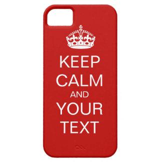 Behalten Sie Ruhe und machen Sie weiter Schutzhülle Fürs iPhone 5