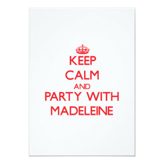 Behalten Sie Ruhe und Party mit Madeleine Personalisierte Ankündigungskarten