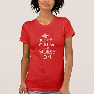 Behalten Sie Ruhe und pflegen Sie auf T - Shirt
