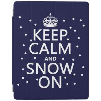 Behalten Sie Ruhe und Schnee an iPad Hülle