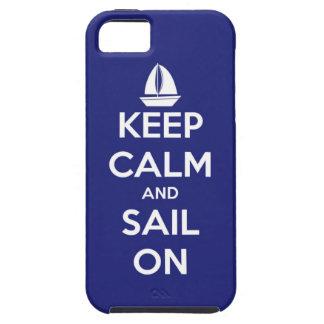 Behalten Sie Ruhe und Segel auf Blau Hülle Fürs iPhone 5