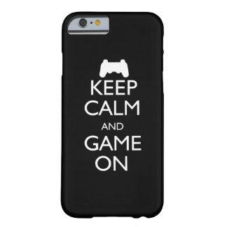Behalten Sie Ruhe und Spiel an Barely There iPhone 6 Hülle