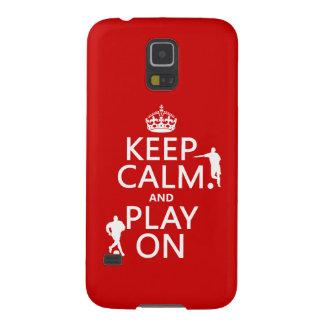 Behalten Sie Ruhe und Spiel auf (Fußball/Fußball) Samsung Galaxy S5 Cover