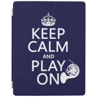 Behalten Sie Ruhe und Spiel auf (Horn) (irgendeine iPad Hülle