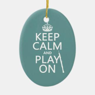 Behalten Sie Ruhe und Spiel auf (oboe) (irgendeine Keramik Ornament