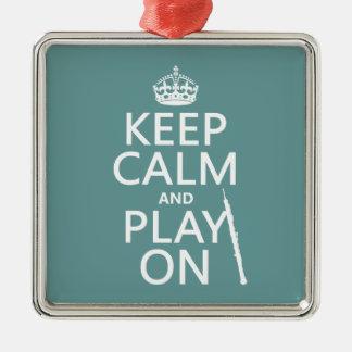 Behalten Sie Ruhe und Spiel auf (oboe) (irgendeine Silbernes Ornament