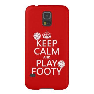 Behalten Sie Ruhe und Spiel Footy (Fußball) Hülle Fürs Galaxy S5