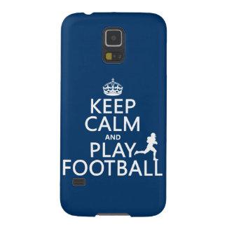 Behalten Sie Ruhe-und Spiel-Fußball Hülle Fürs Galaxy S5