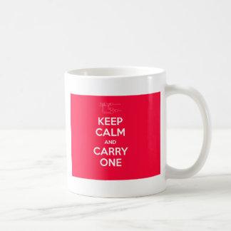 Behalten Sie Ruhe und tragen Sie eine Geek-Tasse Tasse