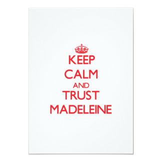 Behalten Sie Ruhe und VERTRAUEN Madeleine Personalisierte Einladungskarten