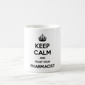 Behalten Sie Ruhe und vertrauen Sie Ihrem Kaffeetasse