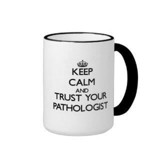 Behalten Sie Ruhe und vertrauen Sie Ihrem Ringer Tasse