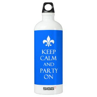 Behalten Sie Ruhe Wasserflaschen