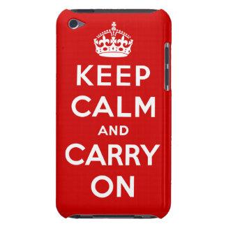 Behalten Sie ruhig u. machen Sie Brite-Plakatipod- Barely There iPod Etuis