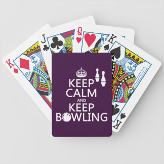 Behalten Sie ruhig und behalten Sie Bowling - alle Bicycle Spielkarten