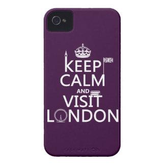 Behalten Sie ruhig und Besuch London iPhone 4 Hülle