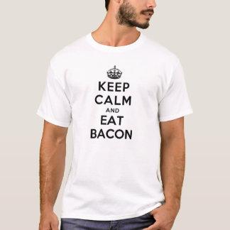 Behalten Sie ruhig und essen Sie den Speck (weiß) T-Shirt