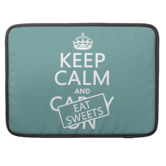 Behalten Sie ruhig und essen Sie die Süßigkeiten Sleeve Für MacBook Pro