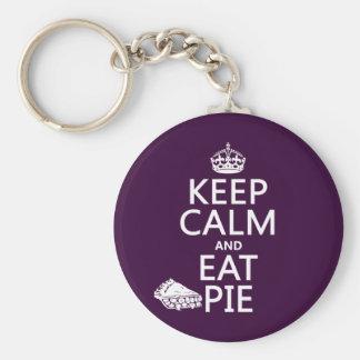 Behalten Sie ruhig und essen Sie Torte Schlüsselanhänger