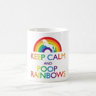 Behalten Sie ruhig und kacken Sie Tasse