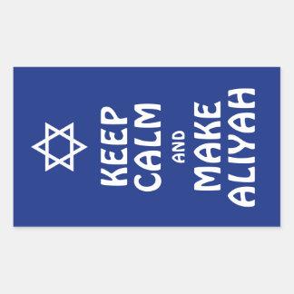 Behalten Sie ruhig und machen Sie Aliyah Rechteckiger Aufkleber