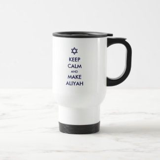 Behalten Sie ruhig und machen Sie Aliyah Reisebecher