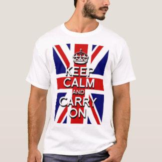 behalten Sie ruhig und machen Sie T-Shirt
